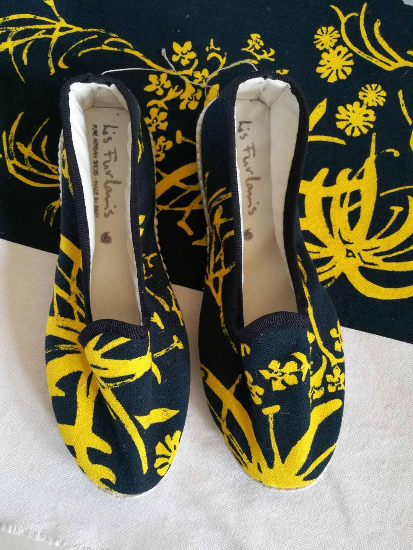 scarpets fantasia floreale lis furlanis blu giallo