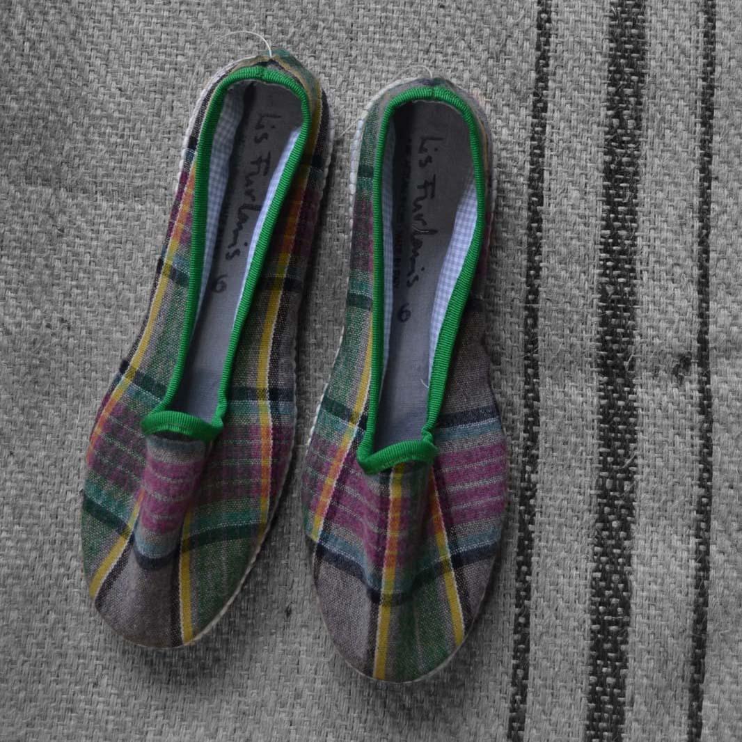 scarpez artigianali materiali di recupero