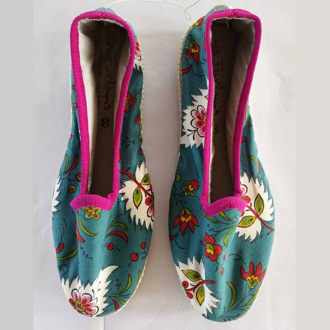 scarpez fiorati azzurro e rosa lis furlanis