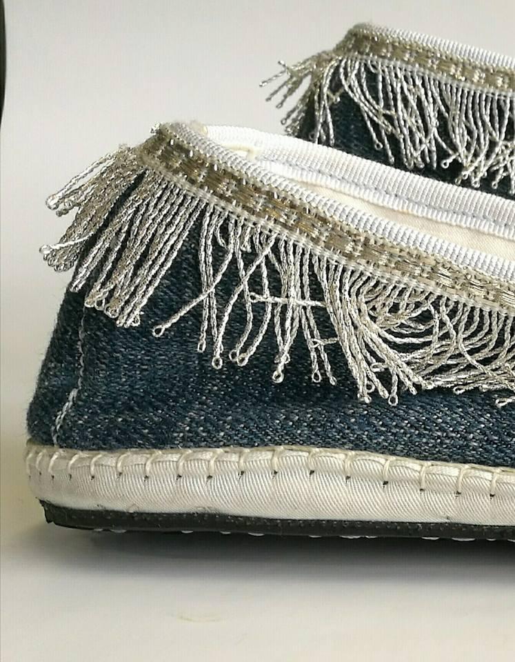scarpez in tessuto fatti a mano originali